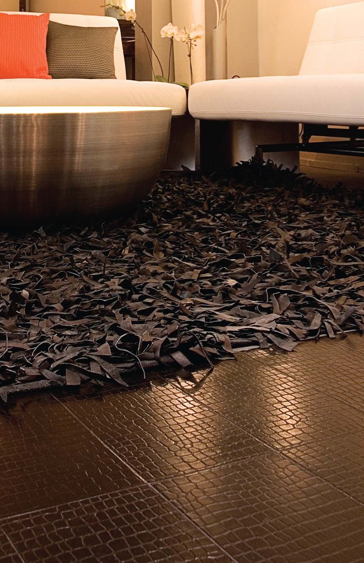 Recycled Leather Tile From Ecodomo