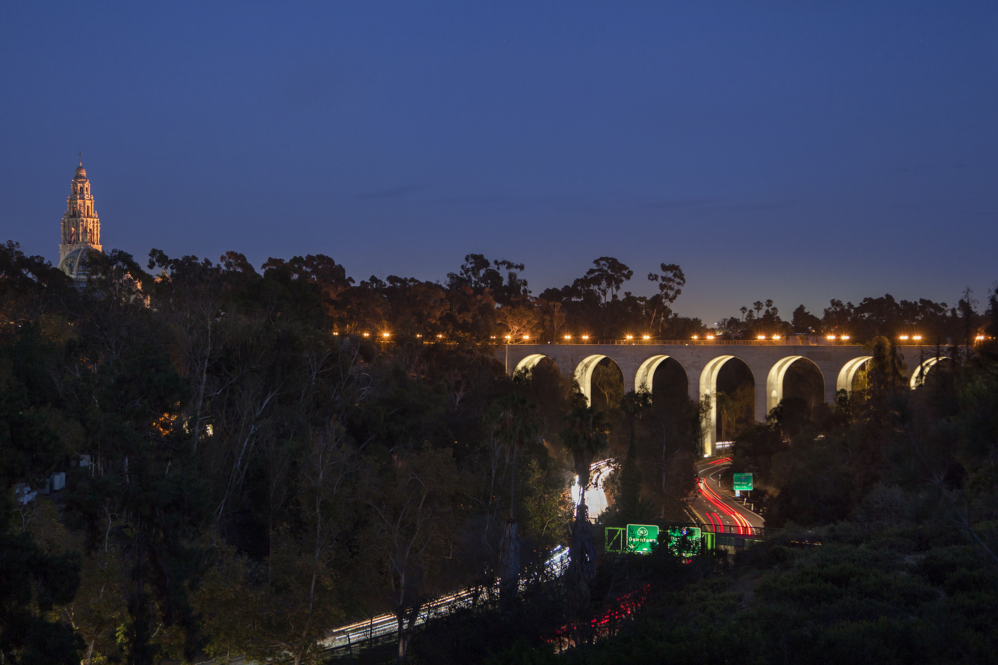 Cabrillo bridge architectural lighting magazine transportation projects infrastructure projects exteriors lighting design bridges illumination arts