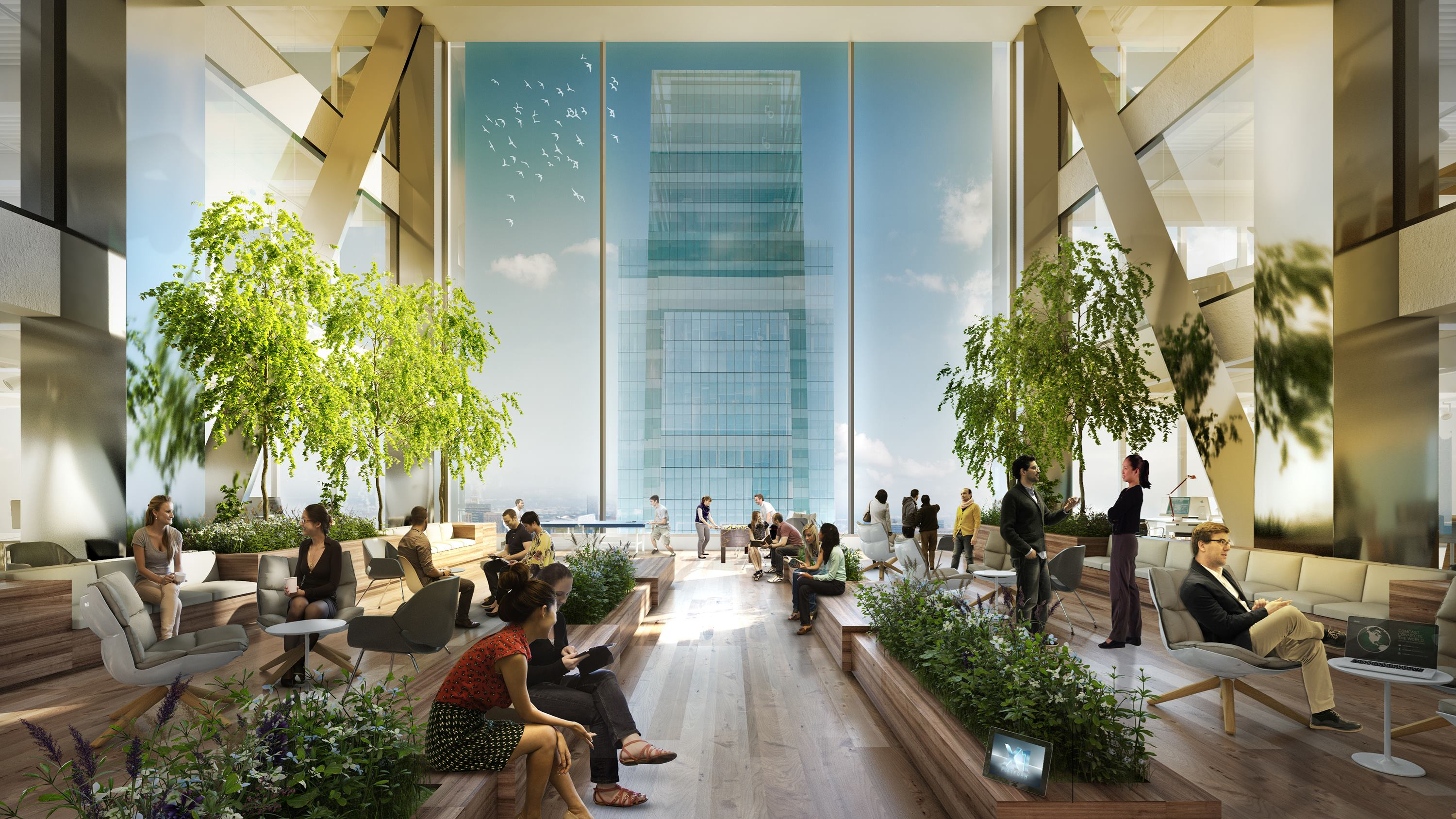Comcast picks gensler to design interiors of new philadelphia tower architect magazine Philadelphia interior design firms