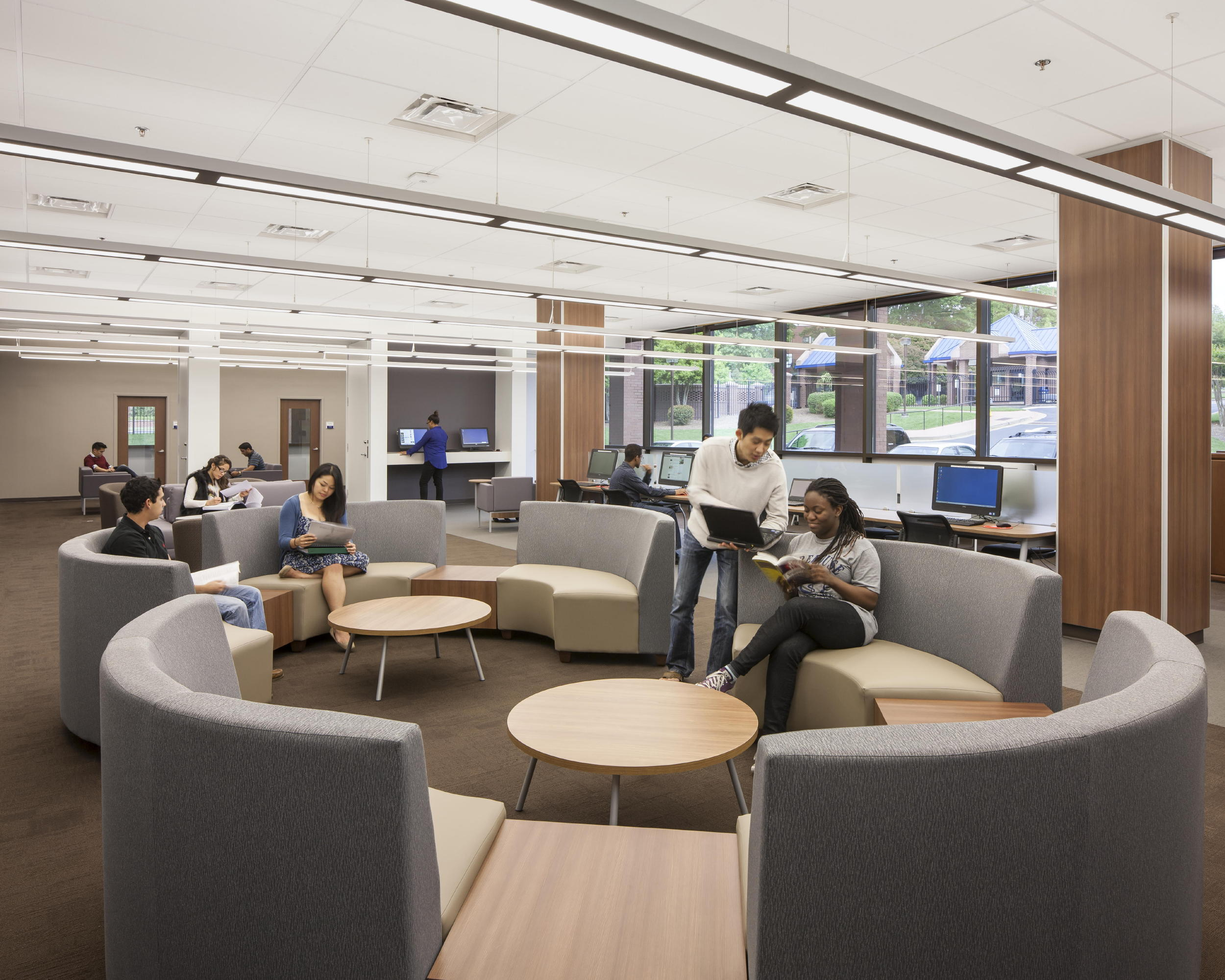 Morehouse school of medicine library renovation for Atlanta residential architects