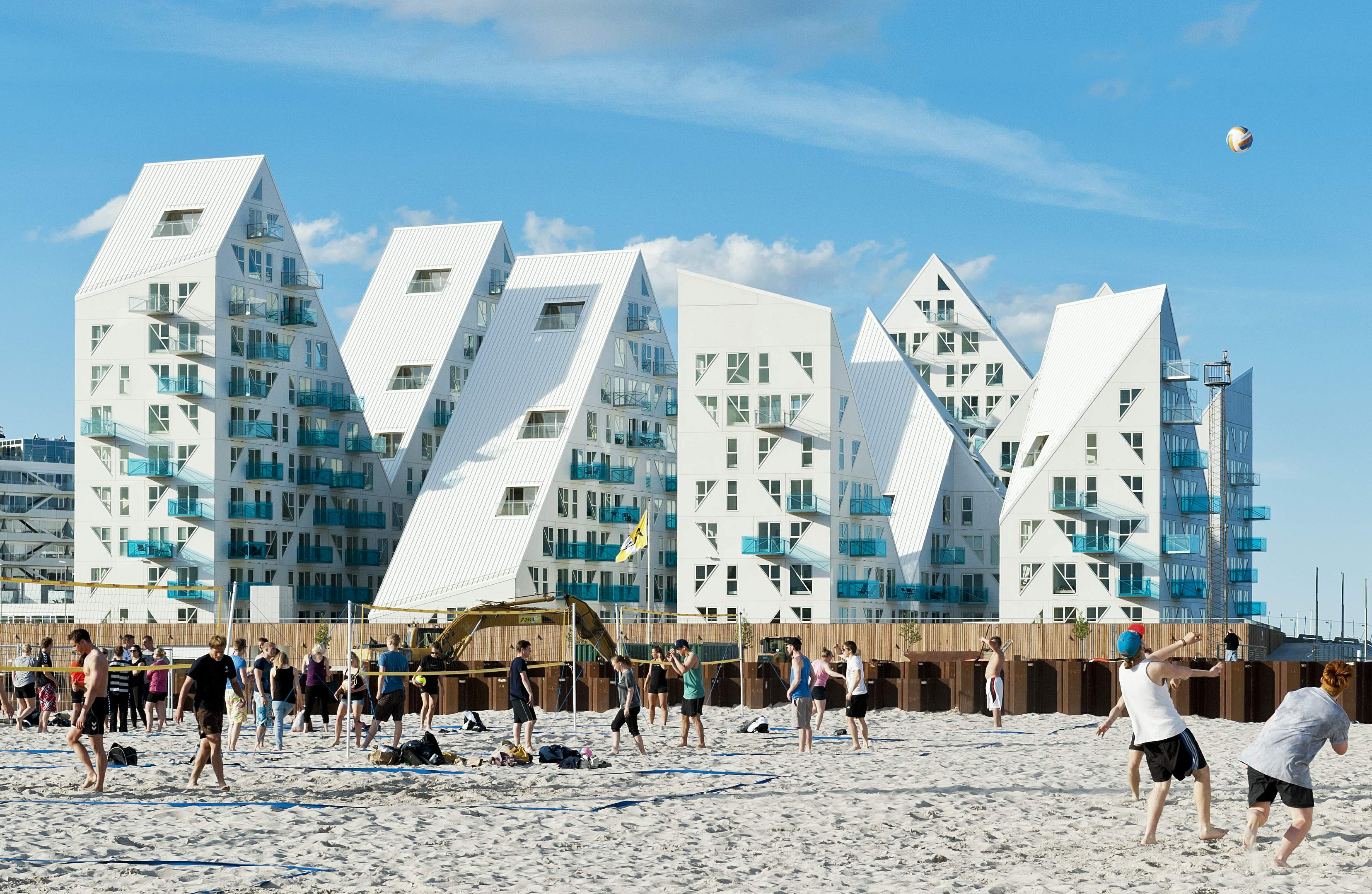 Iceberg Beach Danish Development Melds Mountains And Sea