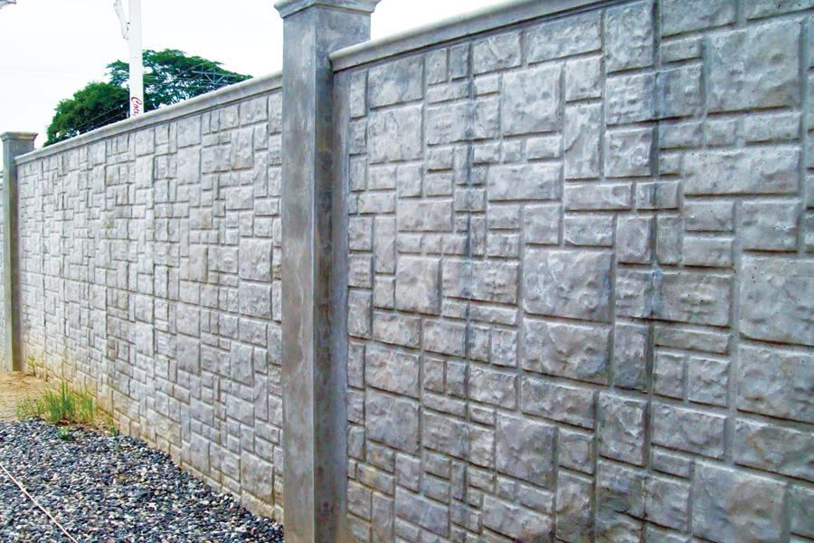 Ashlar stone pattern concrete construction magazine for Concrete log forms