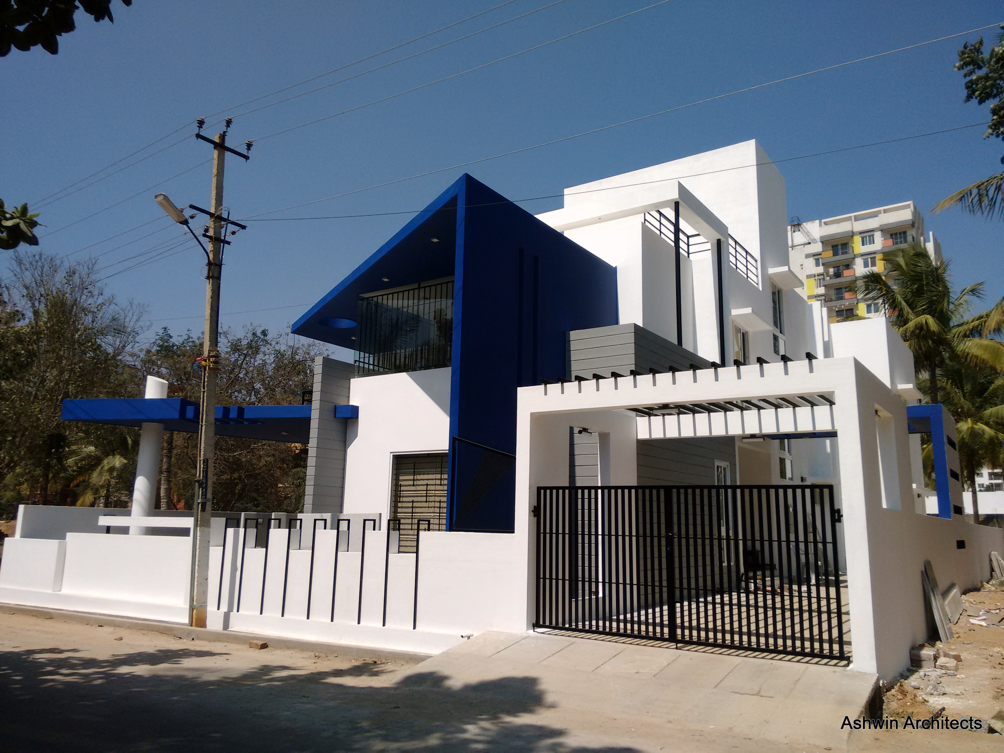 Modern villa designs bangalore architect magazine for Modern villa design