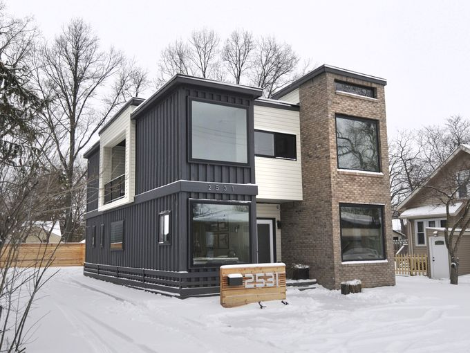 Private residence container home architect magazine designhaus architecture royal oak mi - Container homes usa ...