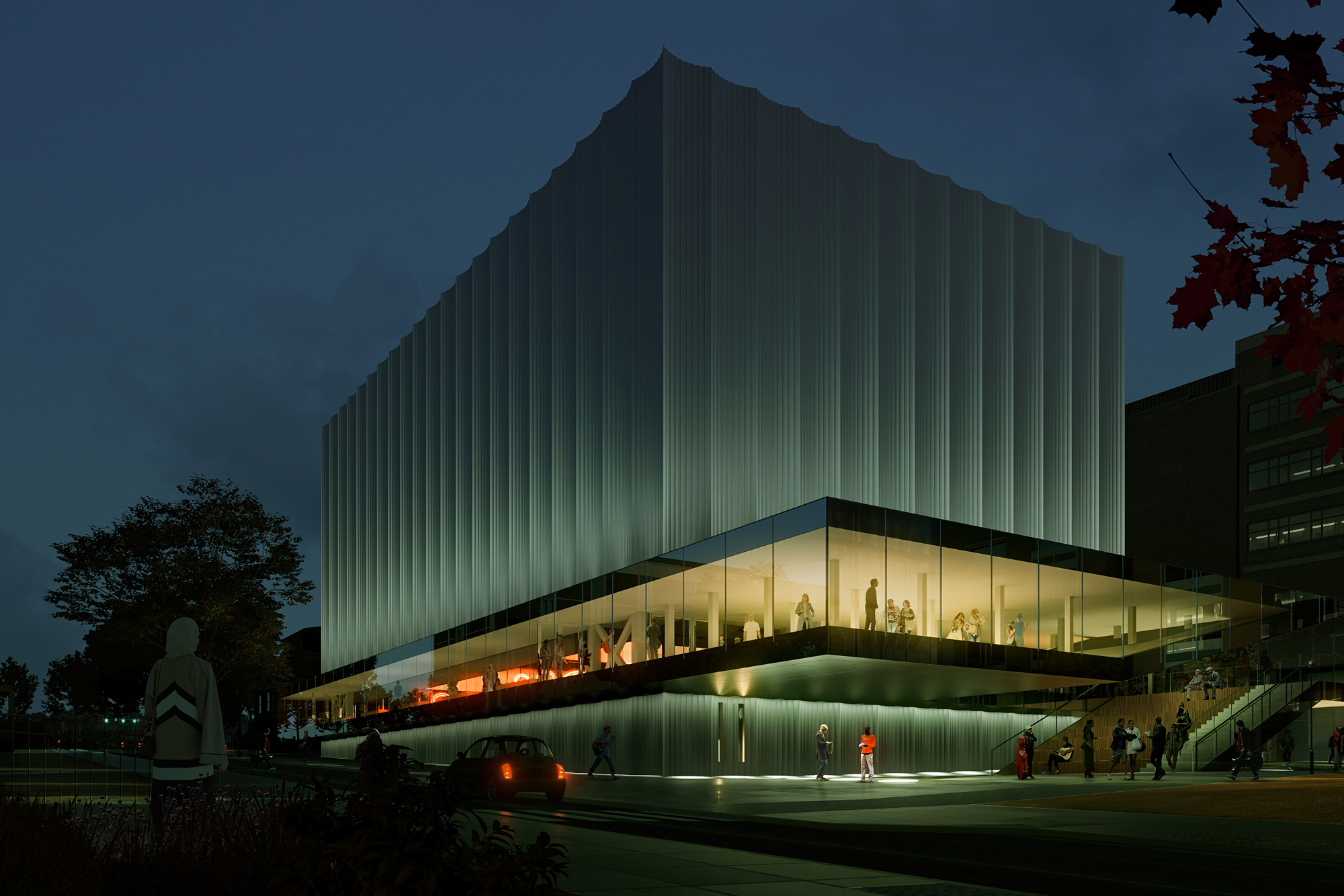 brown university performing arts center by rex