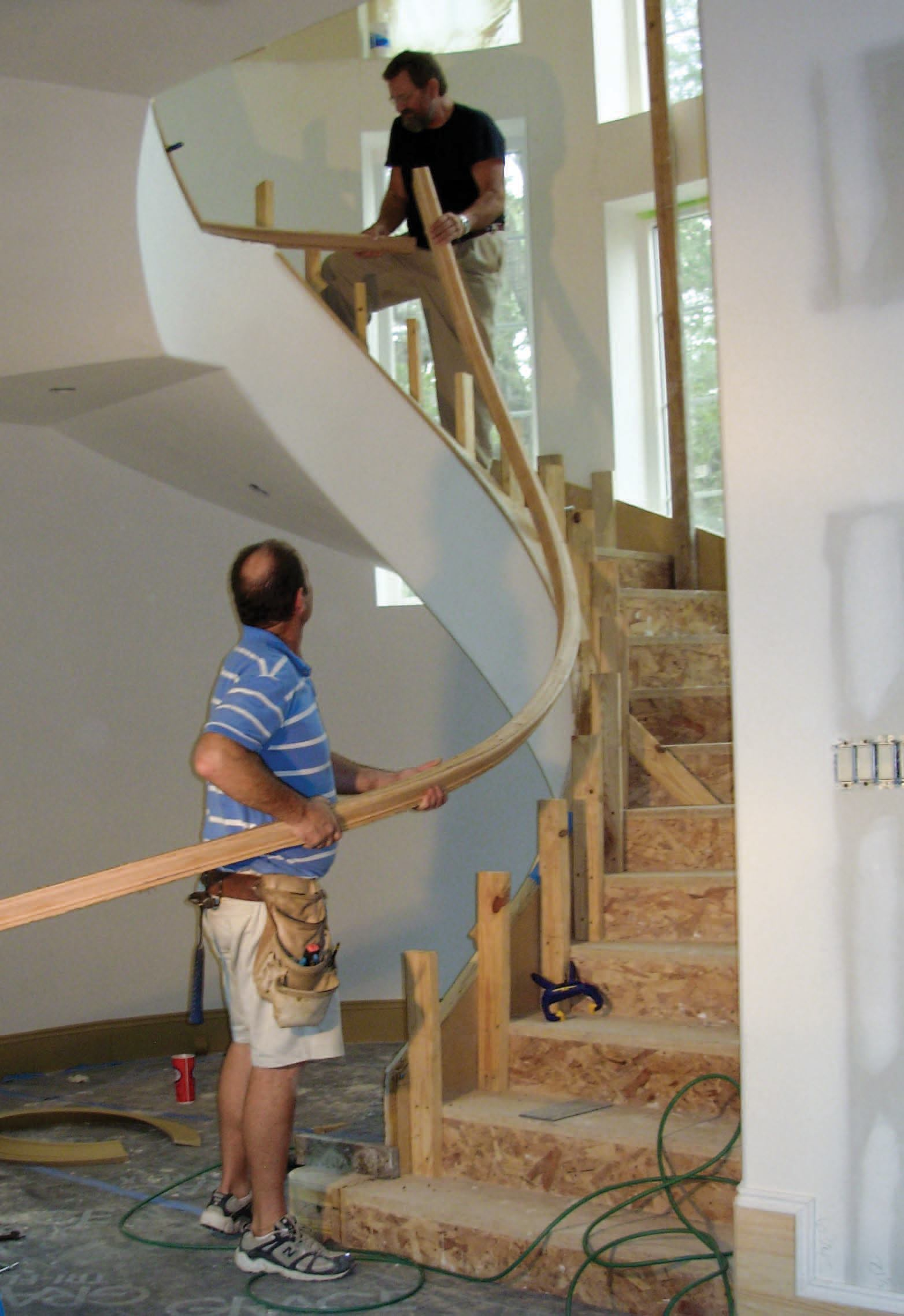 Curved and Geometric Staircases and Handrails