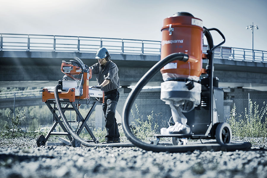 Dry Cutting Vacuum Attachment Concrete Construction