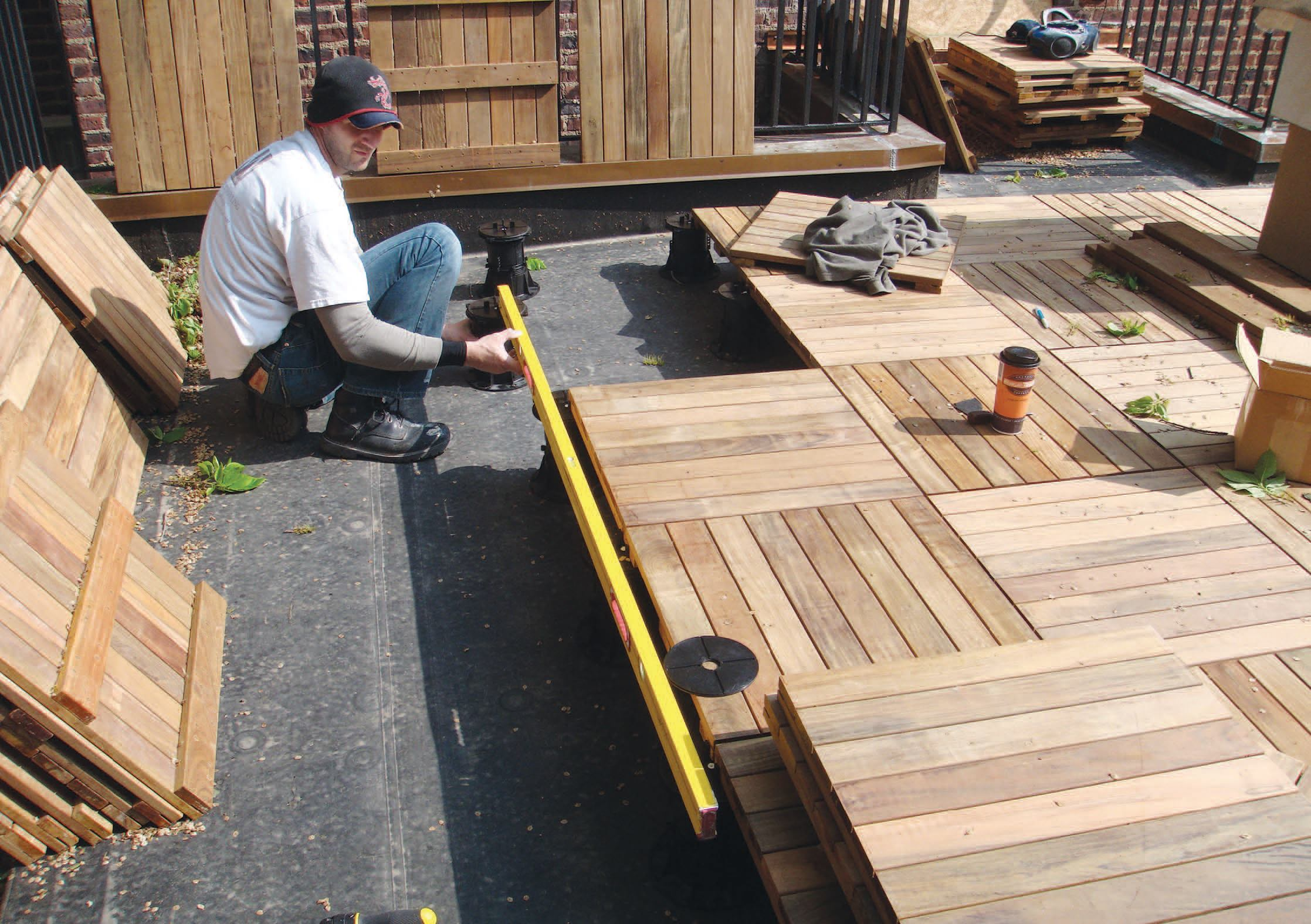 Replacing A Rooftop Deck Images 1 10