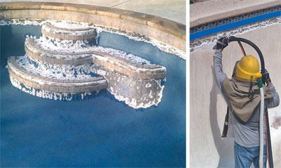 Chipping Away Pool Amp Spa News Plaster Repair Tile