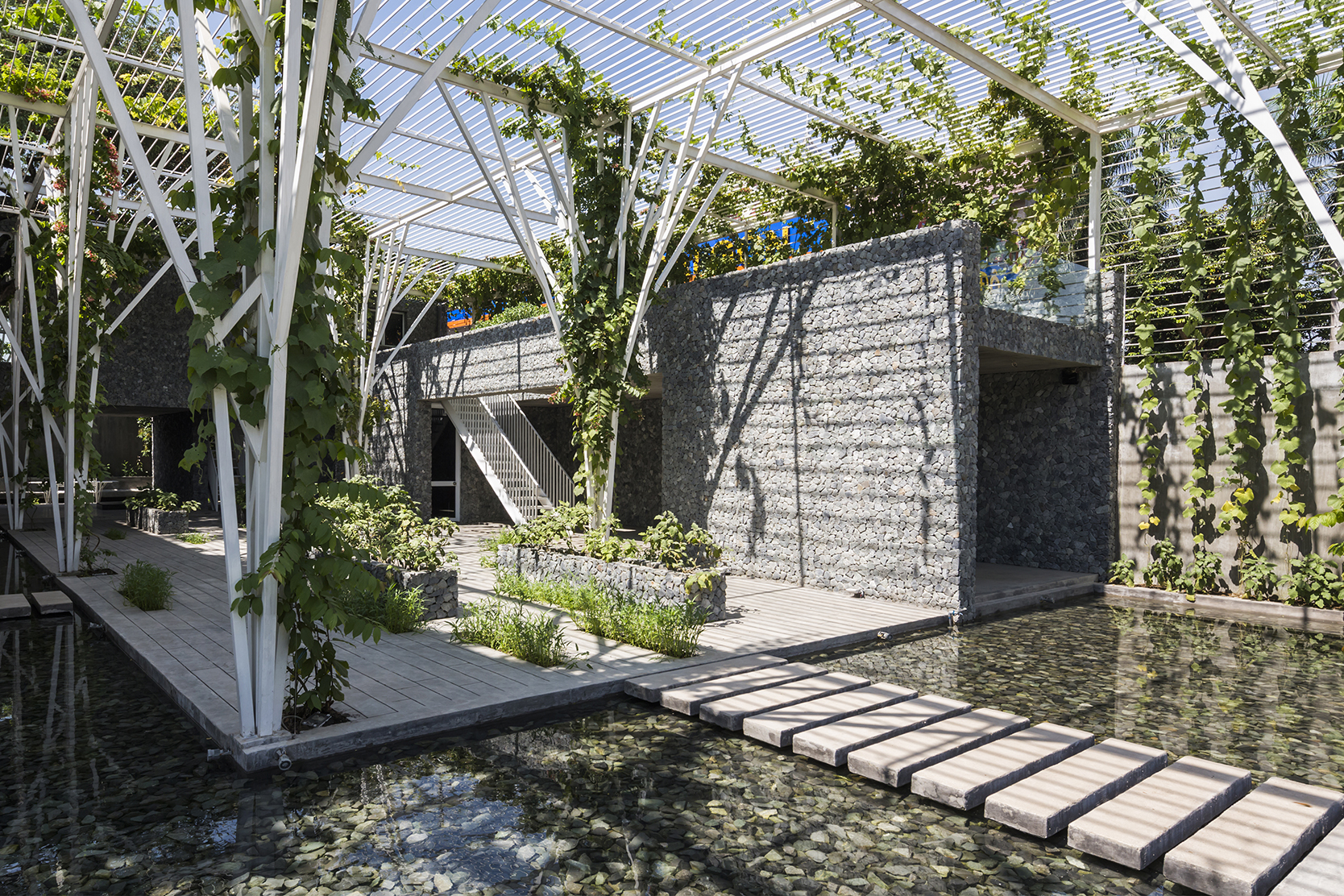 Vegetable Trellis | Architect Magazine | Cong Sinh Architects, Ho Chi Minh  City, Vietnam, Community, New Construction, Green Design, Sustainability,  ...