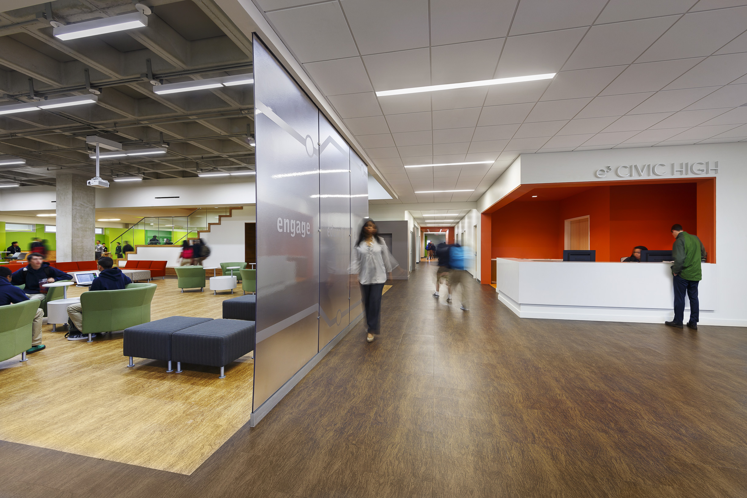 E3 Civic High | Architect Magazine | LPA Inc, San Diego, CA, USA,  Education, Interiors, Renovation/Remodel, Modern, LEED Gold , AIA    National Awards 2015, ...