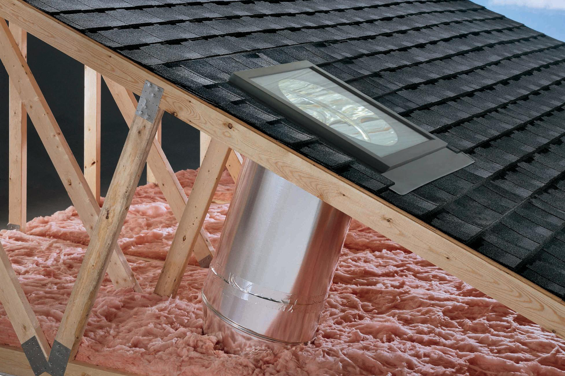 Low Profile Velux Flat Glass Sun Tunnel Remodeling