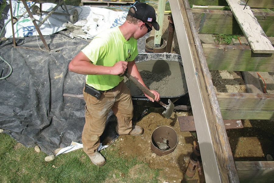 Weight Of Concrete Footings Professional Deck Builder