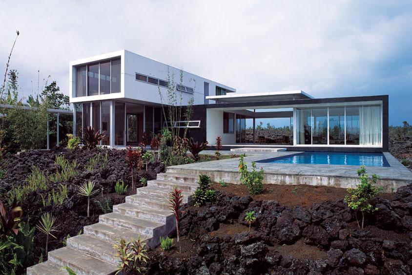 Hawaii homes built on hardened lava ecobuilding pulse for Island home designs hawaii