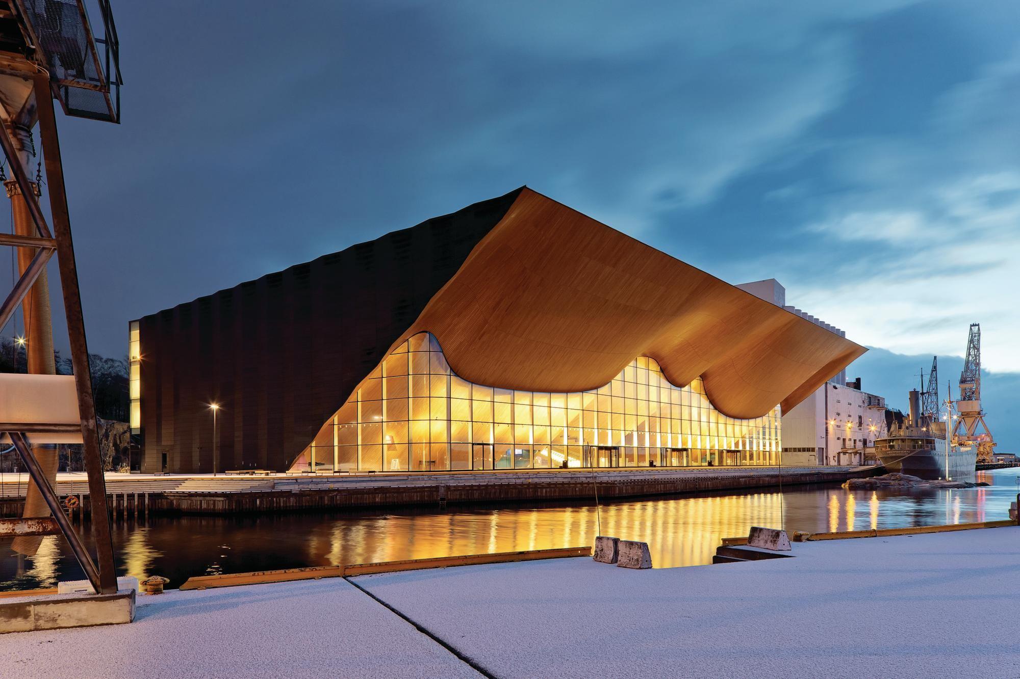 Detail: Kilden Curved Façade | Architect Magazine | Wood, Building ...