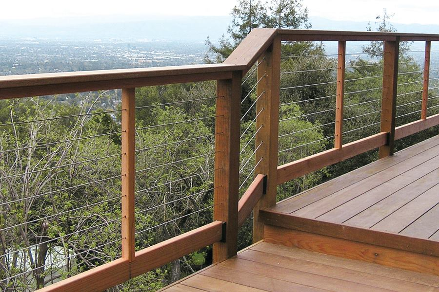 Installing Cable Railings Professional Deck Builder Fencing And Railing Framing Design Engineering