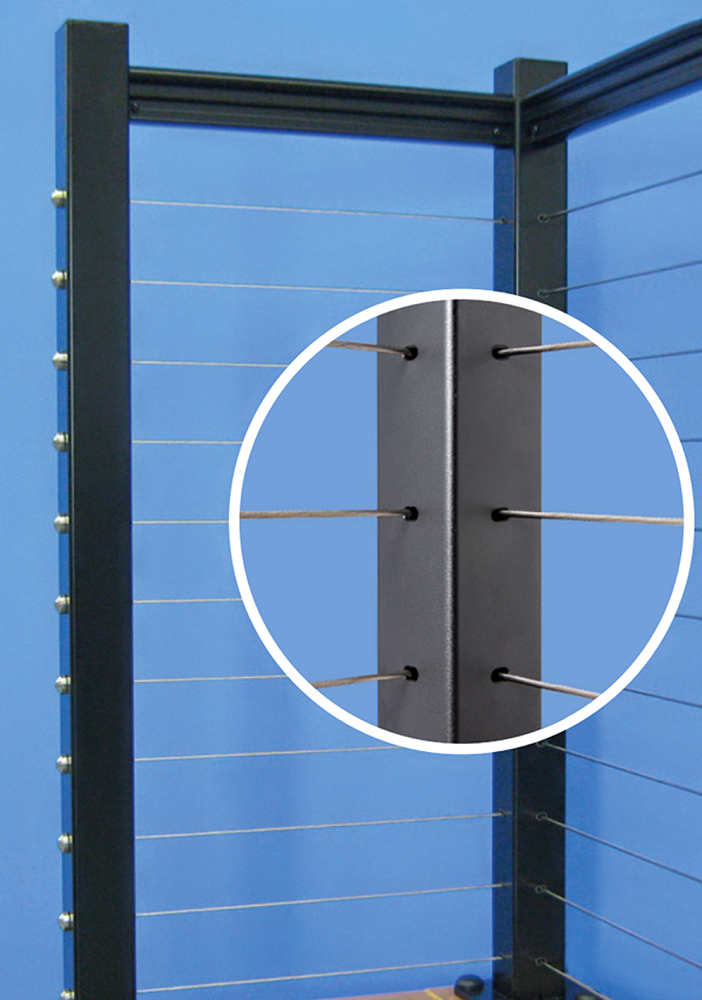 Single corner post for cable railing professional deck for Www feeneyinc com