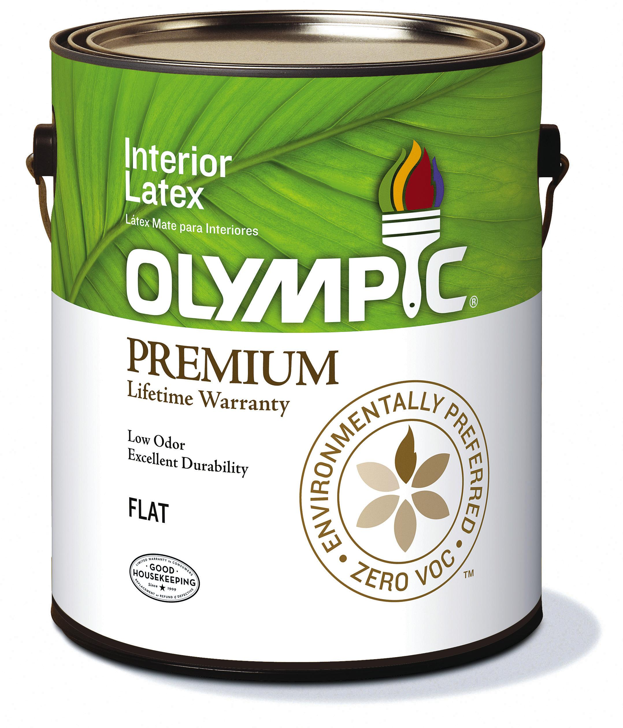 Low Voc Interior Paint: Olympic Paint Zero-VOC/Low-Odor Premium Interior Paint