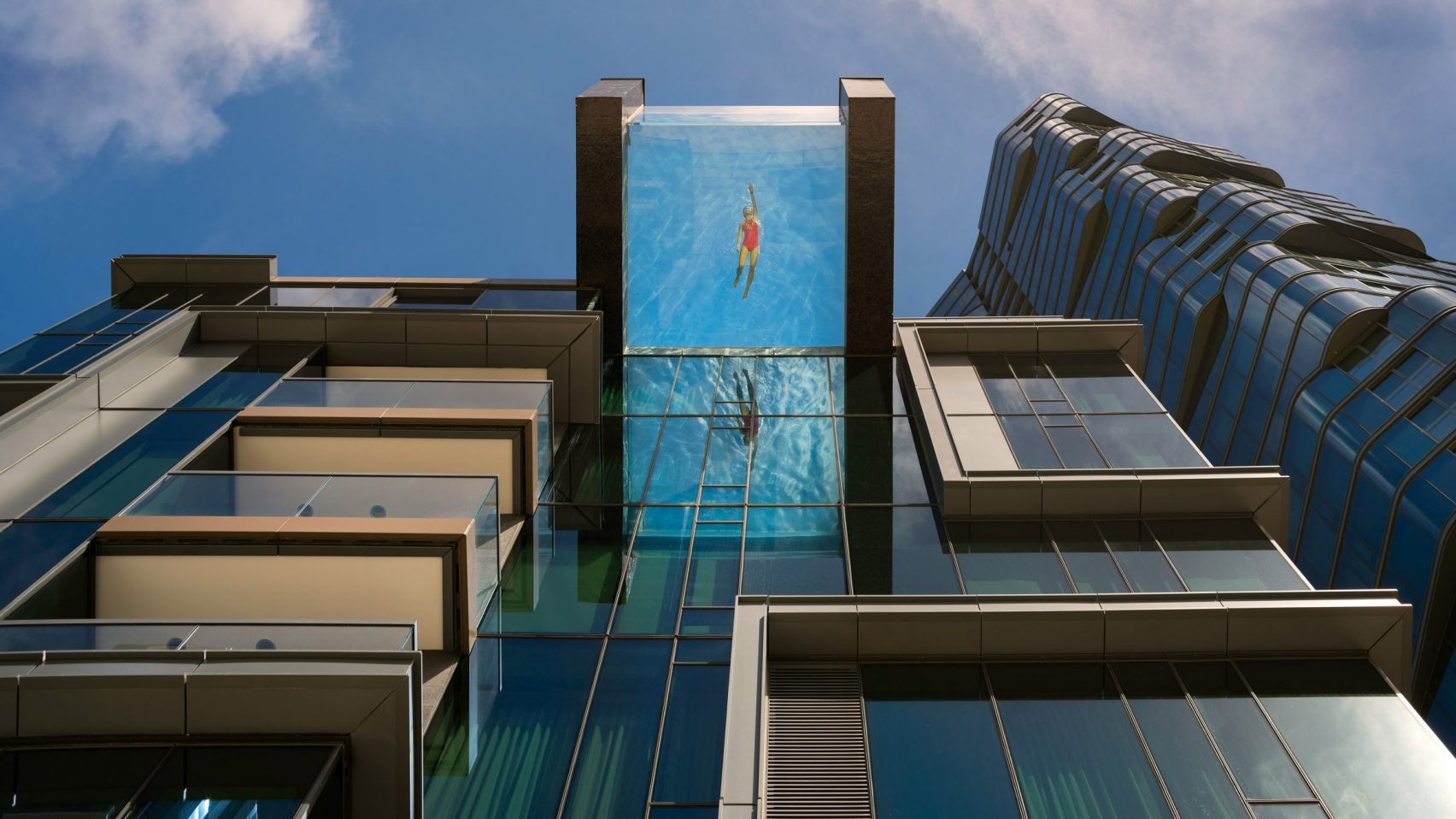 Chicago Condo Floor Plans Transparent Infinity Pool Hangs Off Condo Tower S Edge