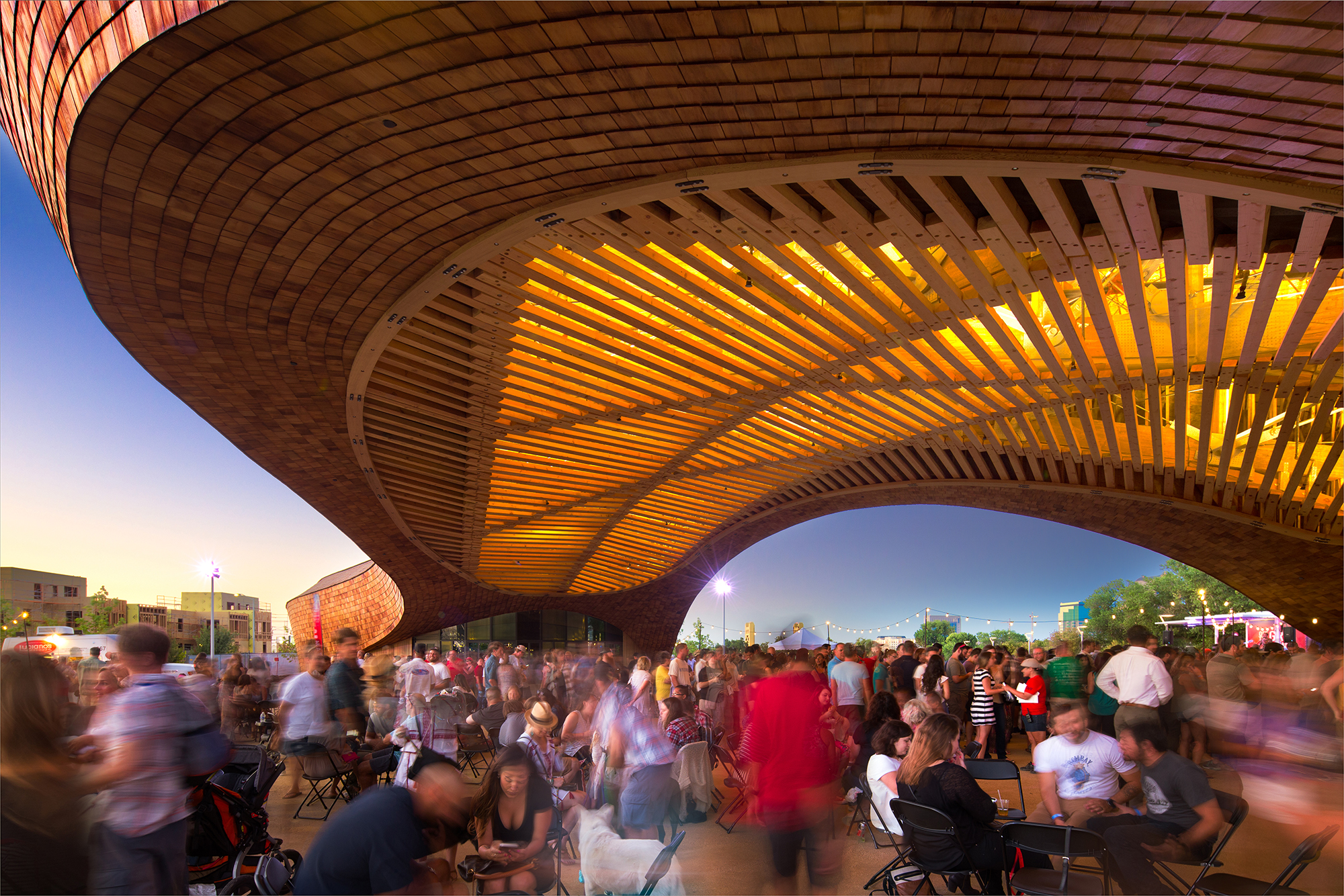 The Barn S Soaring Timber Superstructure Architect Magazine