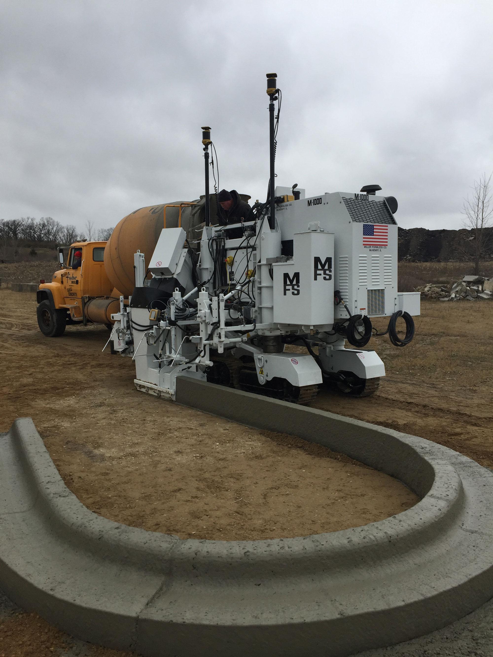 Compact Curb Amp Gutter Machine Concrete Construction