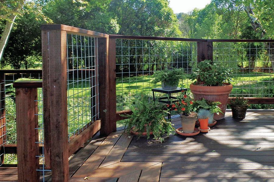 Wild Hog Railing Wire Mesh | Professional Deck Builder | Fencing and ...
