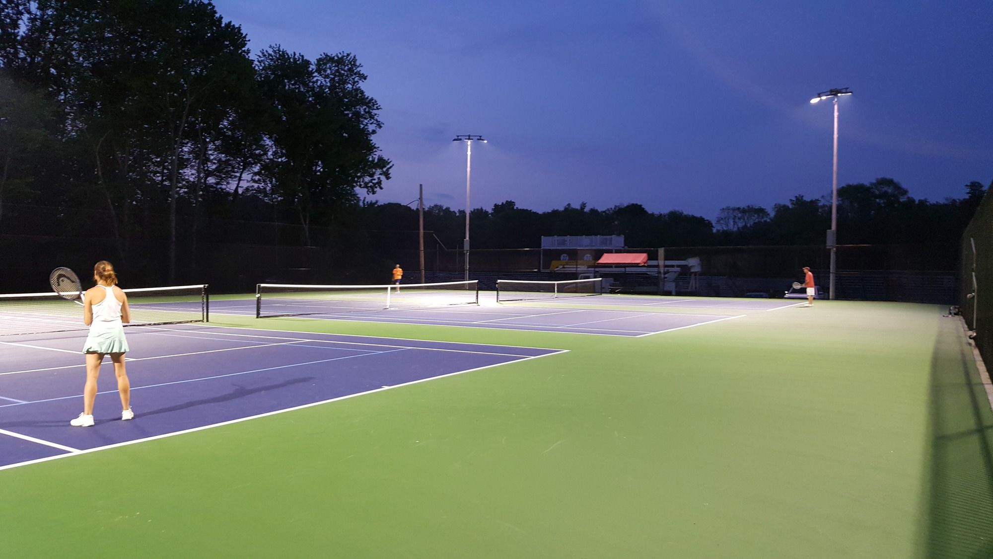 City Serves Up A New Tennis Court Public Works Magazine Grounds Parks And Roadside