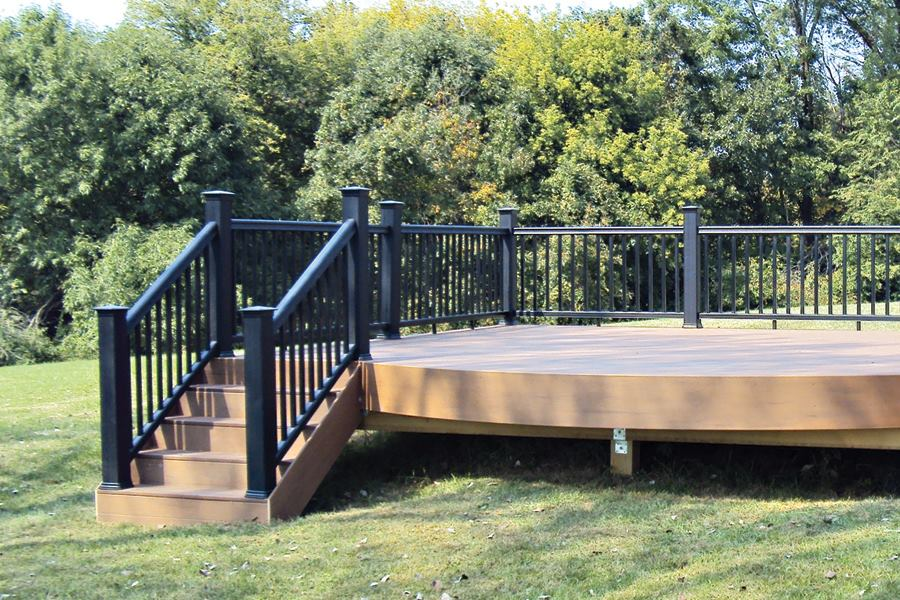 Freestanding decks professional deck builder structure 16x16 deck material list