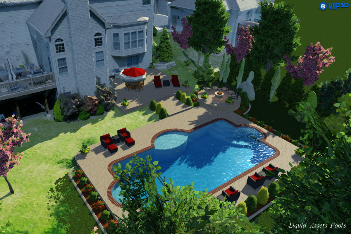 For faster more accurate pool designs use a drone pool for Pool design program
