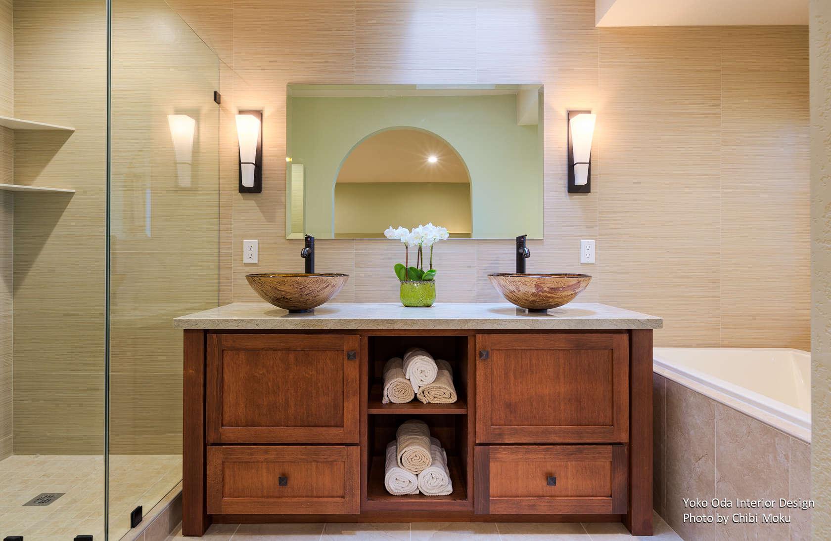 Yoko Oda Interior Design Zen Bathroom Walnut Creek Ca