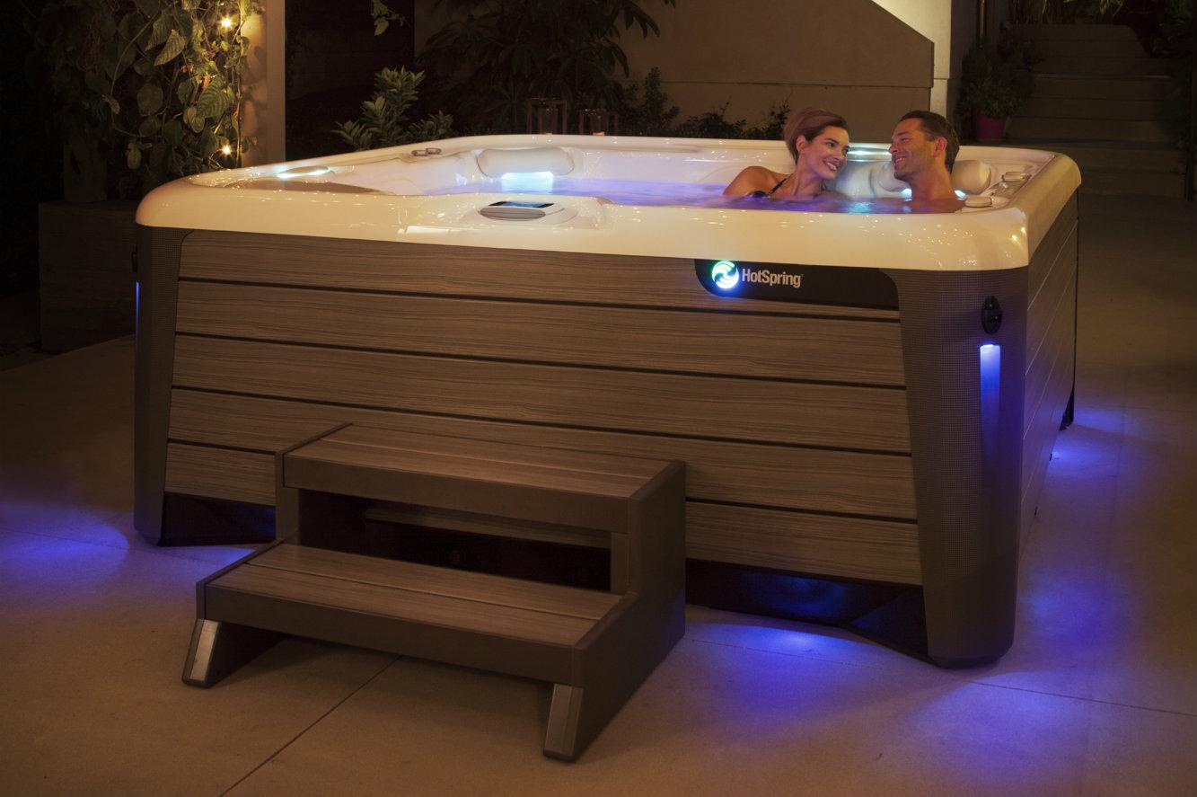 steps dayton hotspring hot of two tier surrounds portfolio hs springs key tub wrap enclosed around piano
