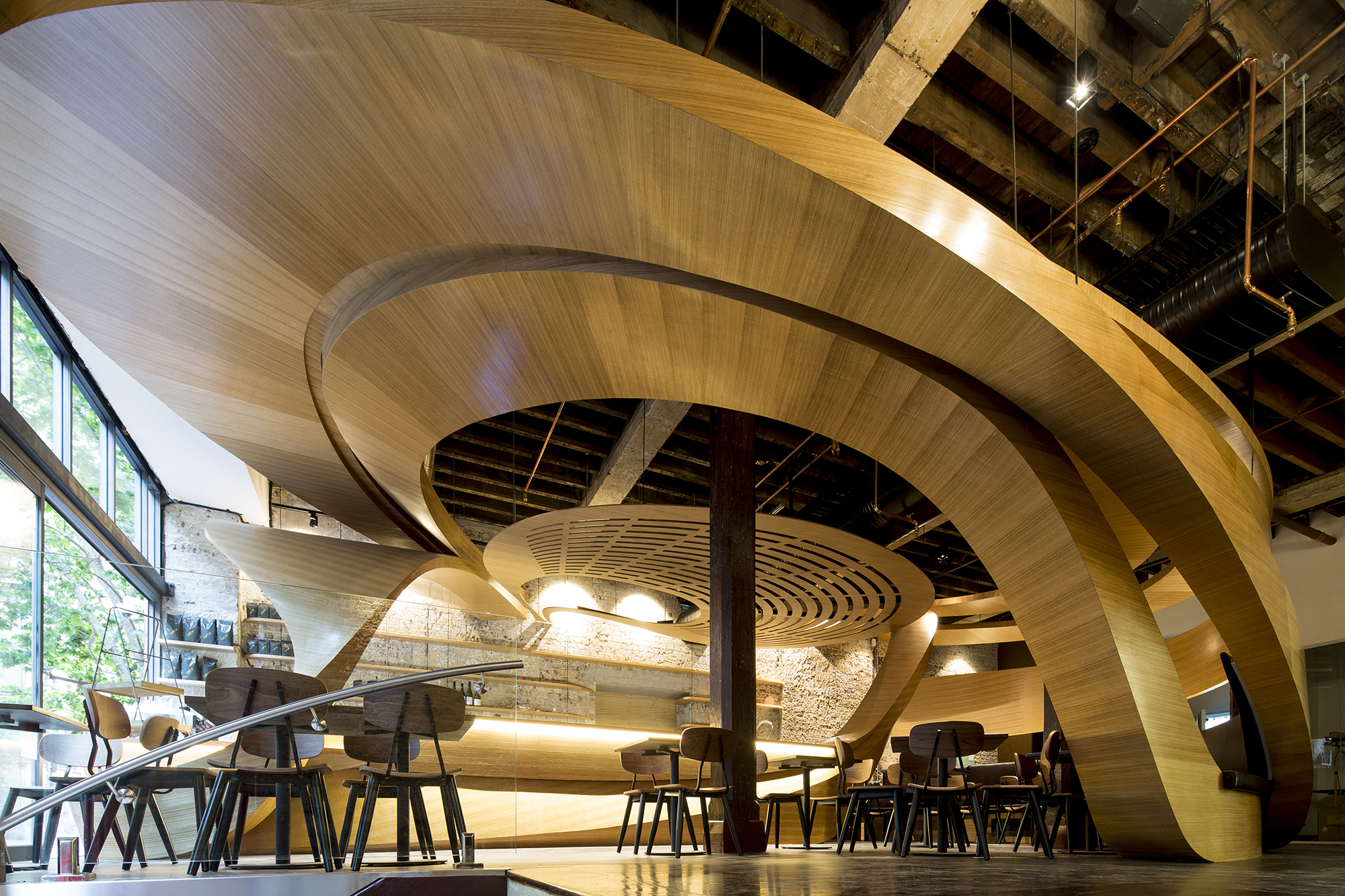 Lot 1 caf interior architect magazine wood for Design en interior