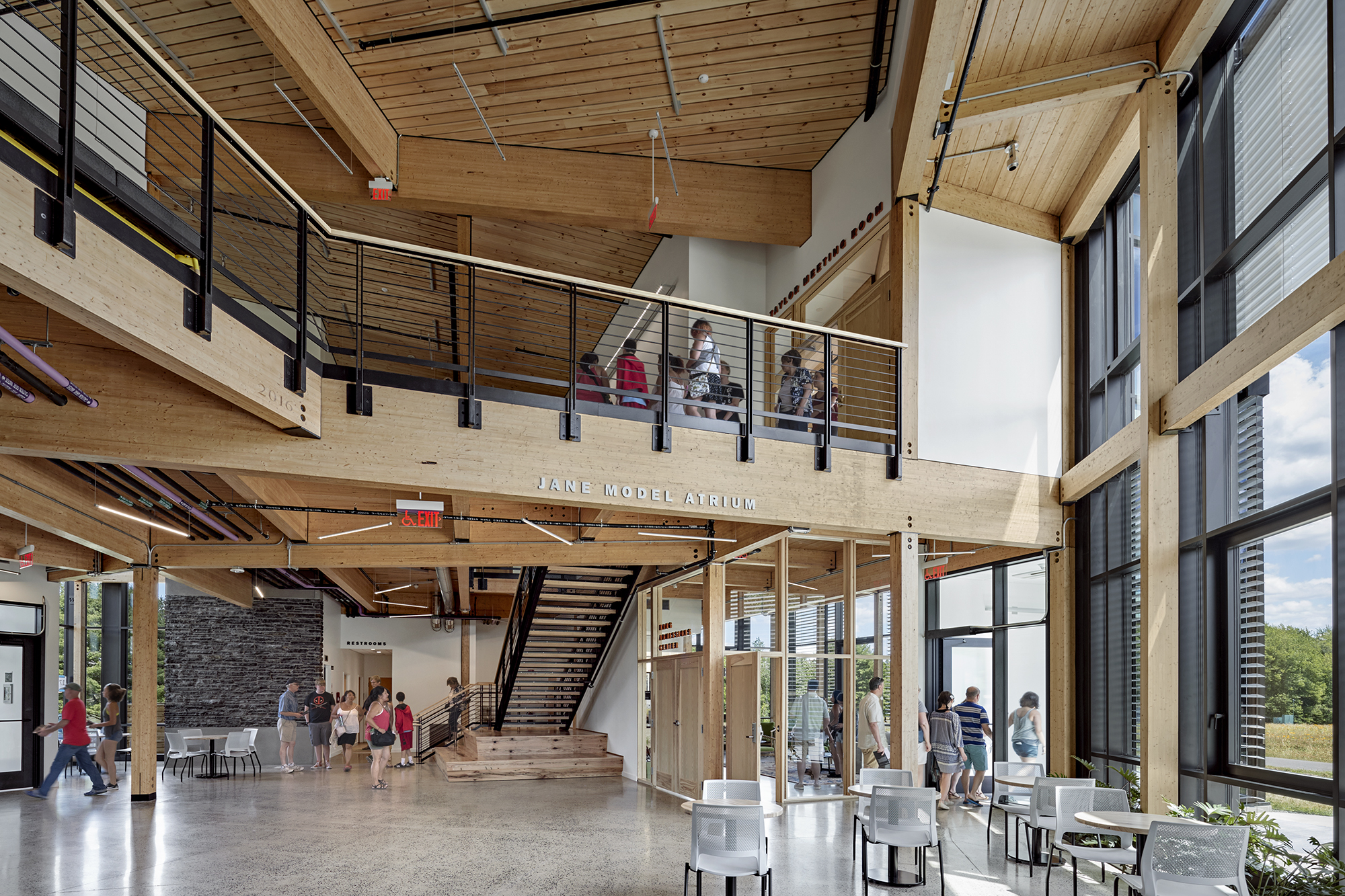 The R W Kern Center S Minimalist Timber Structure