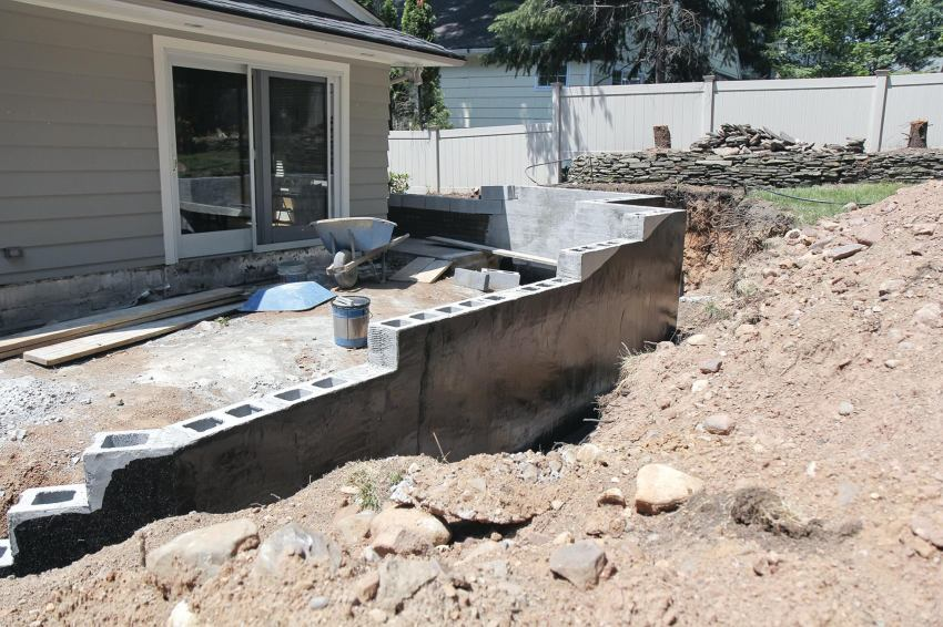 Supporting A Deck With Retaining Wall Professional