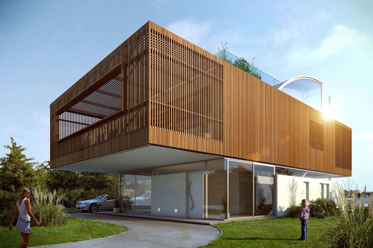 Wooden box house architect magazine jorge mastropietro for Projects house
