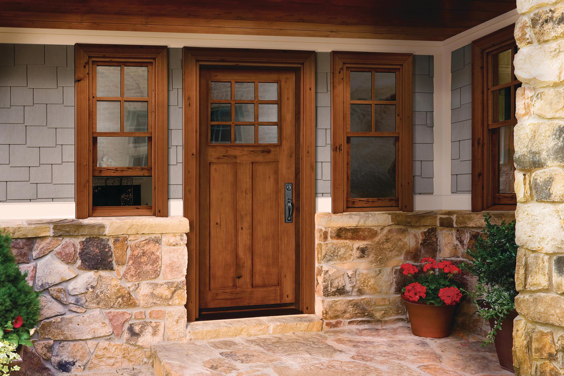Reclaimed rustic jeld wen reclaimed wood windows and for Hardwood exterior doors