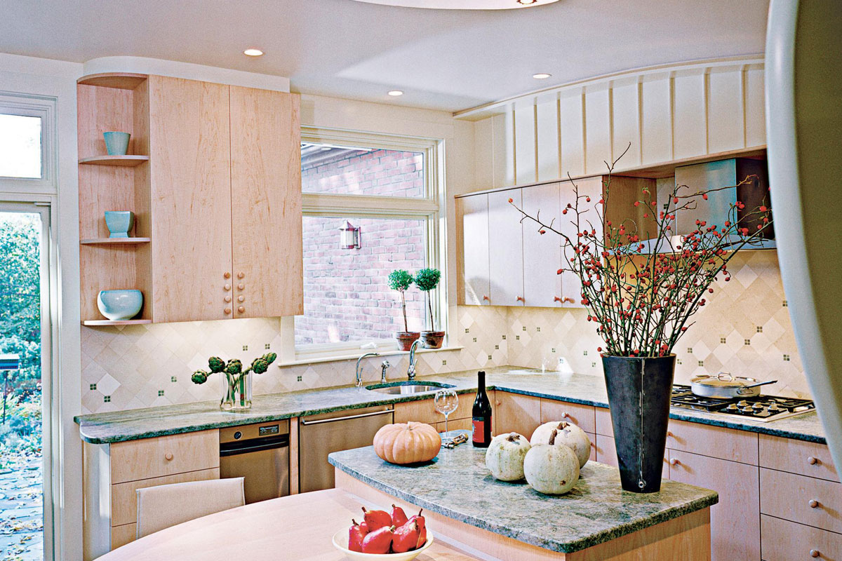 Small Scale Gesture Simple Kitchen Bump Out Remodeling