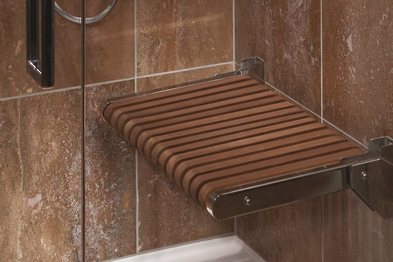 Teak Shower Seats Mti Baths Residential Architect Bath