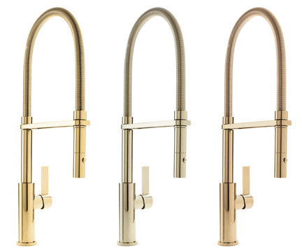 California Faucets Offers Six New Gold And Brass Finishes