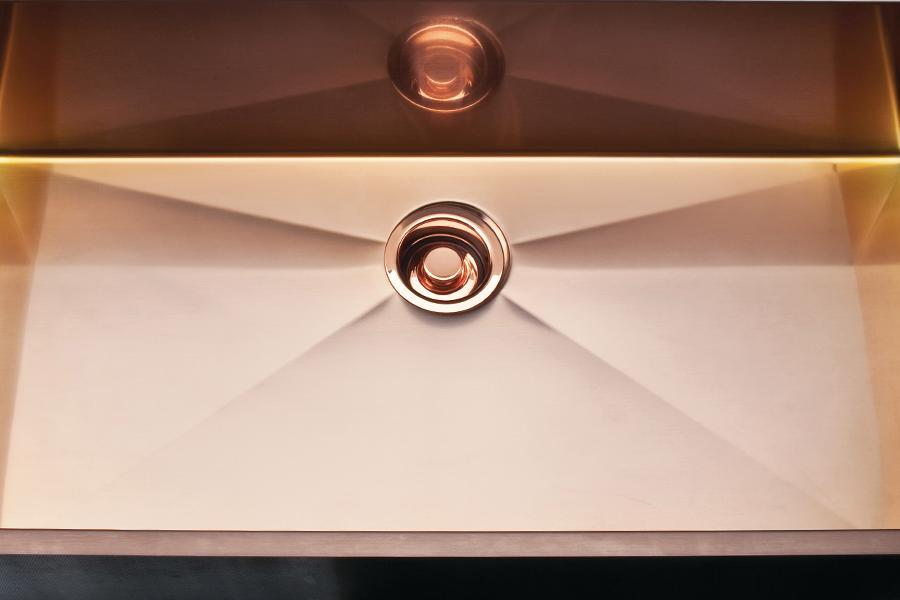 Spotlight Luxury Sinks Rohl Stainless Copper Kitchen