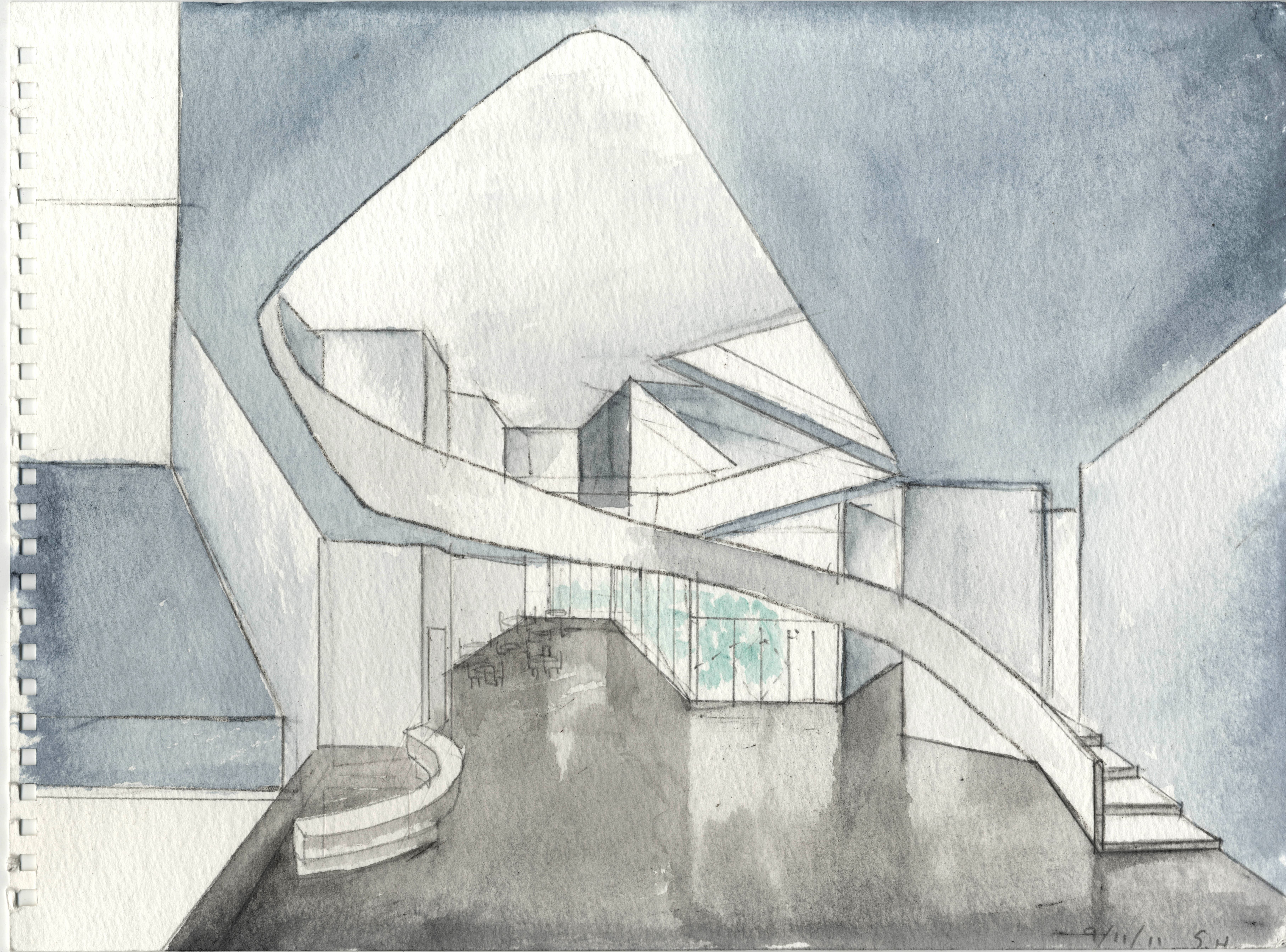 Steven holl architects opens forking time exhibit architect magazine for Art institute interior design reviews