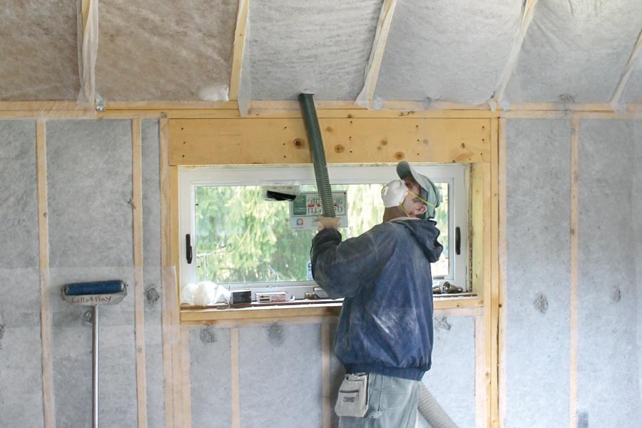 Installing Dense Pack Cellulose Jlc Online Insulation