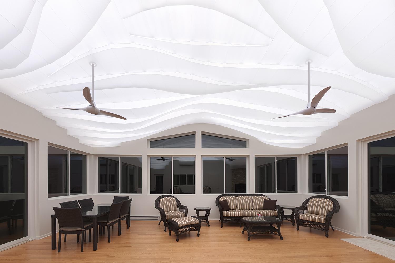 Light Arrival Sunroom Ceiling Residential Architect Flynn Architecture Design Crystal