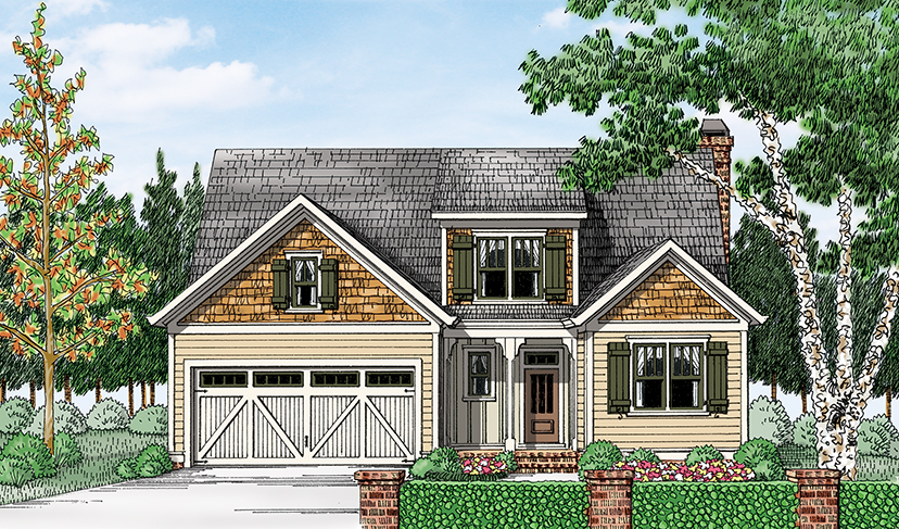 4 house plans with a small home office from frank betz for Builder magazine house plans