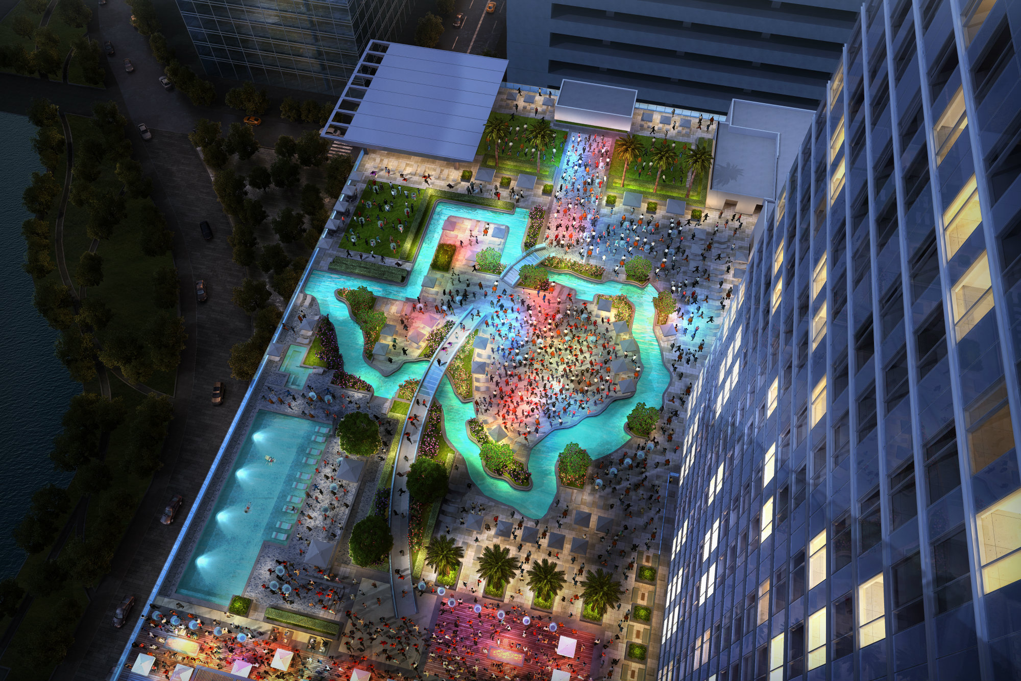 Houston Hotel Debuts Texas Shaped Lazy River Aquatics