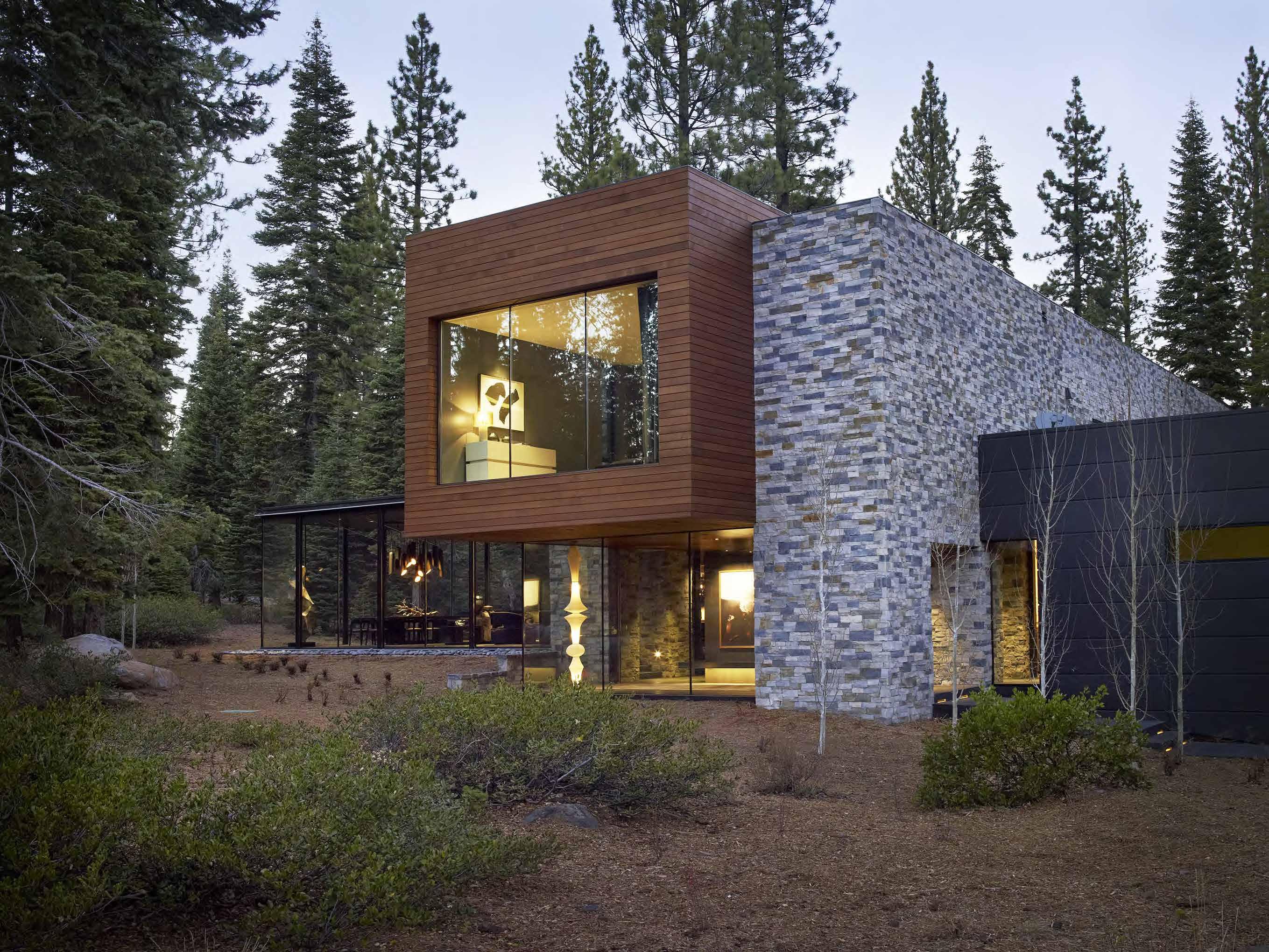 Martis residence architect magazine studio ren for Lake tahoe architecture firms
