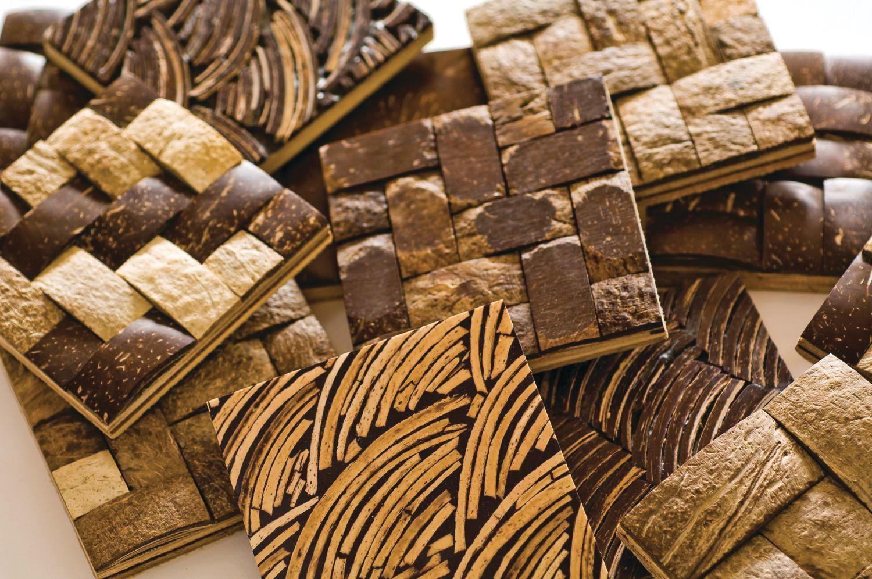 Reclaimed Coconut Shell Tiles From Kirei Ecobuilding