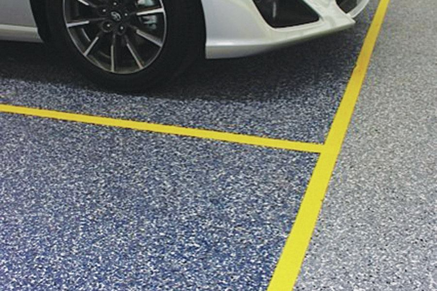 Epoxy Used On Auto Showroom Floor Concrete Construction