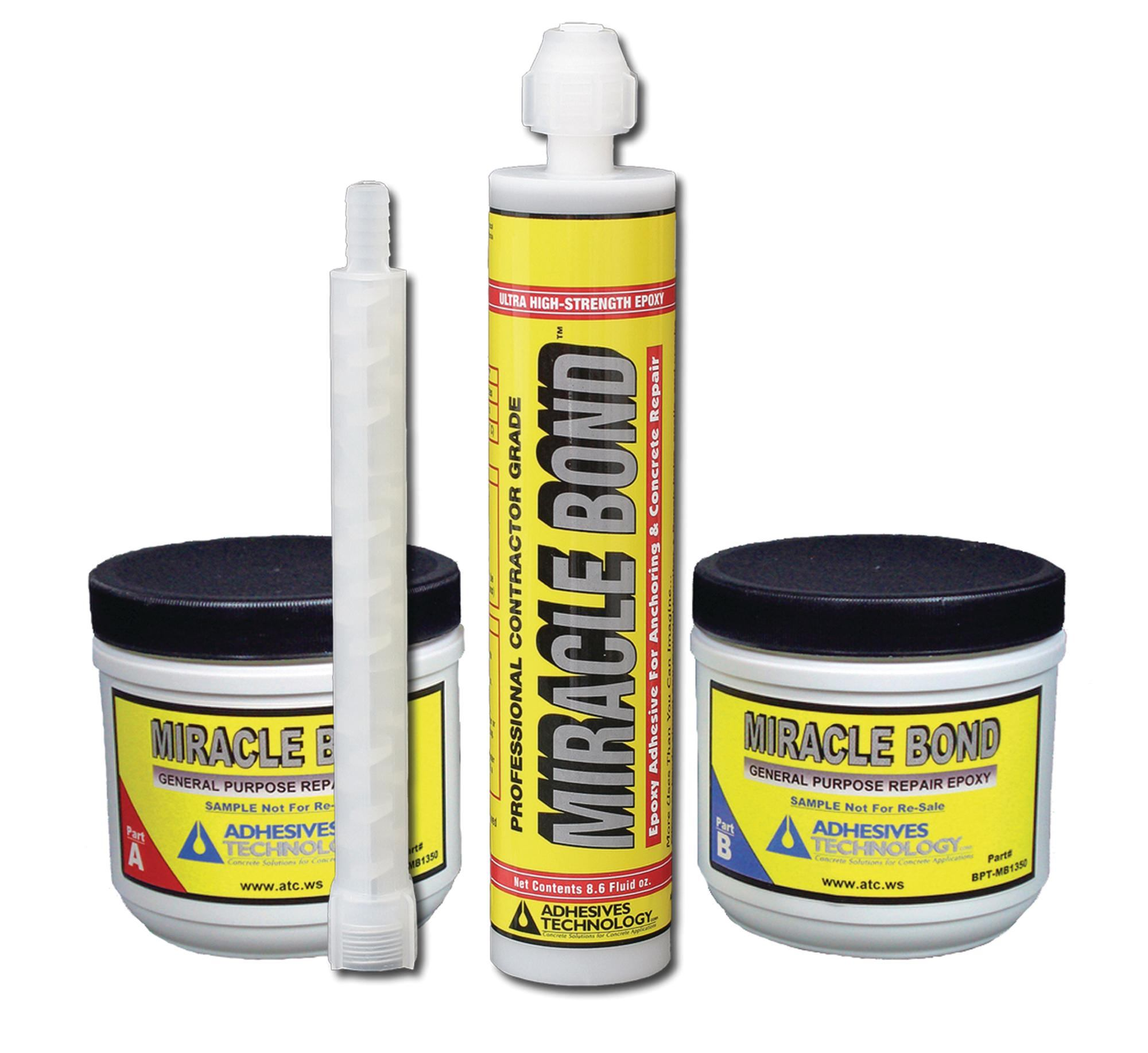 Adhesives Technology Miracle Bond Concrete Construction