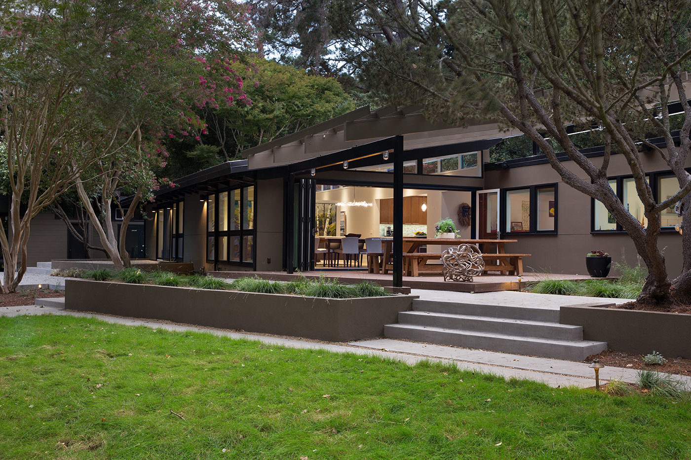 Lafayette custom mid century modern remodel architect for Custom home architects